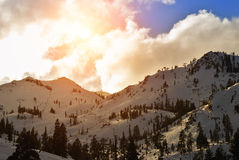 Squaw Valley ski resort Royalty Free Stock Images