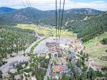 Squaw Valley Village. The village at Squaw Valley, California from the aerial tram Royalty Free Stock Photo