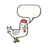 Squawking rooster cartoon Stock Photography
