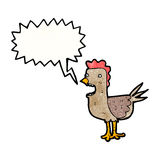 Squawking rooster cartoon Stock Image
