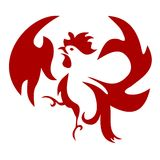 Squawking Rooster Icon 01 Royalty Free Stock Photography