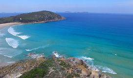 Squeaky Beach aerial view, Wilsons Promontory.  Stock Photos