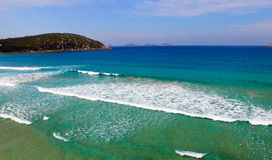 Squeaky Beach aerial view, Wilsons Promontory.  Royalty Free Stock Photo