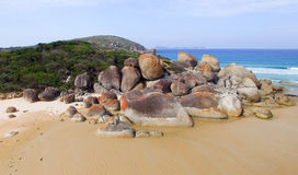 Squeaky Beach aerial view, Wilsons Promontory.  Stock Photography