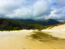 Squeaky beach. At Wilson's promontory, Australia. The sands makes a squeaking sound when walked upon, hence the name stock images