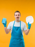 Squeaky clean plate Stock Photography
