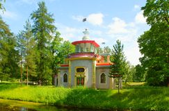 Squeaky Pavilion. In Catherine park in Tsarskoye Selo Royalty Free Stock Photos