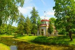 Squeaky Pavilion. In Catherine park in Tsarskoye Selo Stock Image