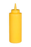 Squeeze bottle of mustard Stock Image