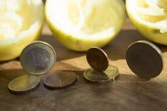 Squeezed economies Royalty Free Stock Photo