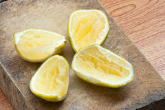 Squeezed lemon Royalty Free Stock Photo