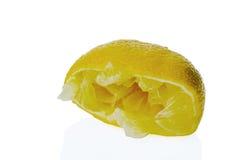 Squeezed lemon Royalty Free Stock Image