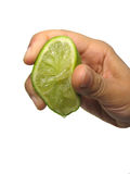 Squeezed Lime Stock Photography