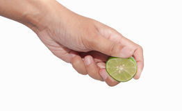 Squeezed lime Royalty Free Stock Image
