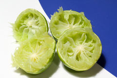 Squeezed limes Stock Image