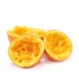 Squeezed oranges Stock Photography