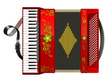 Squeezed red accordion Royalty Free Stock Photography