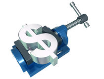 Squeezing the dollar Royalty Free Stock Image