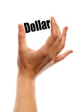Squeezing the dollar Stock Photography