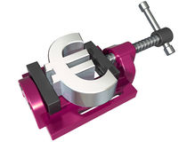 Squeezing the euro Stock Images