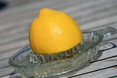 Squeezing Lemon Juice Stock Photo