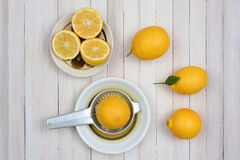 Squeezing Lemons Still Life Royalty Free Stock Photos