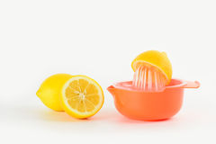 Squeezing lemons royalty free stock photos