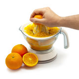 Squeezing Orange Juice stock photography