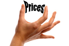 Squeezing prices Stock Photo