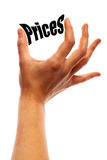 Squeezing prices Royalty Free Stock Image