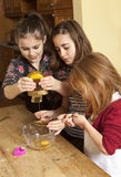 Squeezing the Syrup. Stock Image