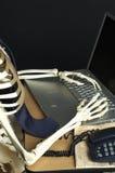 Squelette au travail 2 Images stock