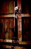 Squelette avec la cloche Photographie stock libre de droits