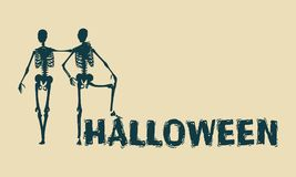 Squelette d'humain de Halloween Photos stock