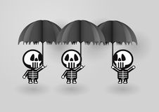 Squelette dans le concept du jour de Halloween Photos stock