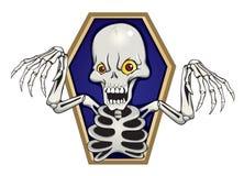 Squelette de crainte Photographie stock