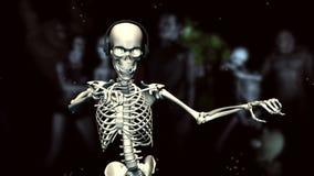 Squelette de danse illustration de vecteur