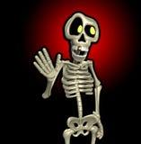 Squelette de dessin animé Image stock
