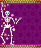 Squelette de fiesta Photo libre de droits