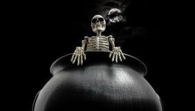 Squelette dramatique de chaudron Photos libres de droits