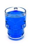 Squelette en verre bleu images libres de droits