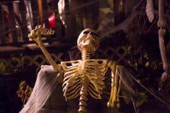 Squelette fantasmagorique de décoration effrayante de Halloween aucune personnes Photos libres de droits