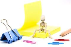 Squelette fatigué Images libres de droits