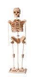 Squelette humain en bois Photographie stock libre de droits