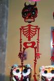 Squelette mexicain de crâne de diable, jour de dias de los muertos de la mort morte images stock