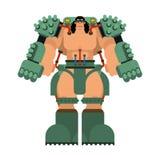 Squelette robotique de technologie mécanique d'exosquelette Robot de costume de fer Cyborg métallique d'habillement Illustration  illustration stock