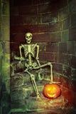 Squelette sur les étapes Image libre de droits
