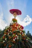 Squelette traditionnel de Catrina de Mexicain au 15ème jour annuel de Photos stock