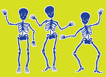 Squelettes de danse illustration stock