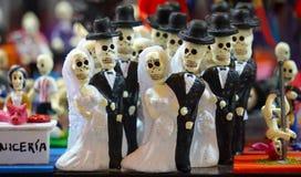 Squelettes de jeunes mariées Photos libres de droits